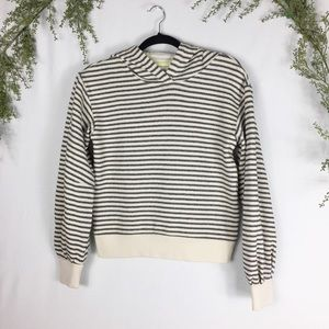 [Lou & Grey] Striped Hoodie Pullover Sweater XS